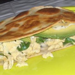 Eggs and Blue Cheese Quesadilla recipe