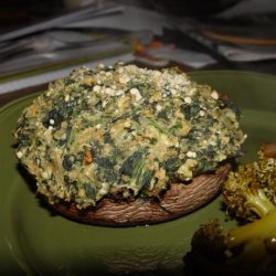 Spinach & Pecan Stuffed Portabella Mushrooms recipe
