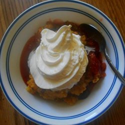 Fruited Nut Peach Cake recipe