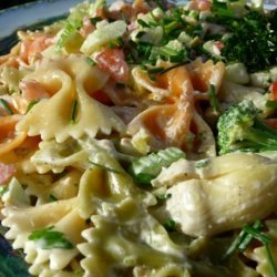 Tuxedo Bow-Tie Pasta Salad for Picnics and Potlucks recipe