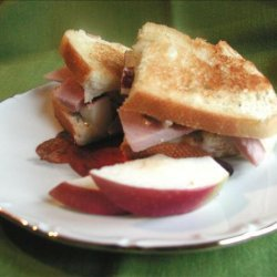 Apple and Ham Grilled Cheese Sandwiches recipe