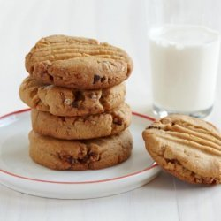 Chewy Granola Peanut Butter Cookies recipe