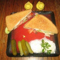 Bacon Lettuce Tomato and Cucumber Sandwich With Serrano Mayo recipe