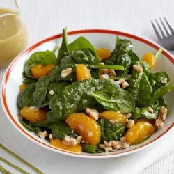 Spinach Salad With Mandarin Oranges and Walnuts recipe