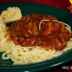 BBQ Rib Spaghetti recipe