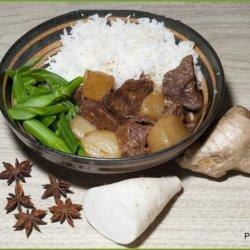 Beef Cubes With Daikon Radish Szechuan Style recipe