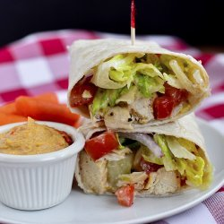 Caesar Chicken Wraps recipe