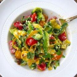 Summer Squash 'pasta' With Ricotta recipe