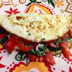 Spinach Egg White Omelet recipe