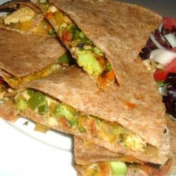 Leftover Chicken & Vegetable Quesadillas recipe