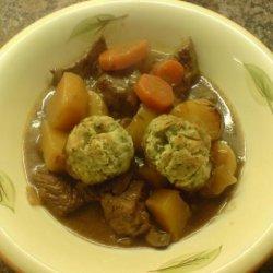 Beef in Ale Stew With Dumplings recipe