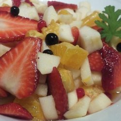 Bergamot Fresh Fruit Salad With Scented Pelargonium Leaves recipe
