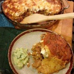 Shredded Chicken Enchilada Pie recipe