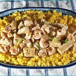 Chinese Tofu and Shrimp Stir-Fry recipe