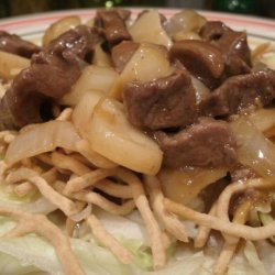 Mongolian Beef over Lettuce recipe