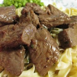 Steak Tips With Red Wine Sauce recipe