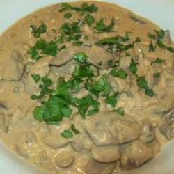 Pork Kidneys in Mushroom Sauce recipe