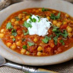 Moroccan Spiced Chickpea Soup recipe