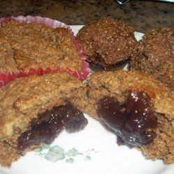 Jam Filled Oat Bran Muffins recipe