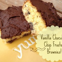 Frosted Chocolate Chip Brownies recipe