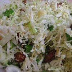 Cabbage Almond Salad recipe