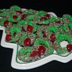Cream Cheese Wreath Cookies recipe