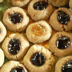 Gluten Free Sunbutter Thumbprint Cookies recipe