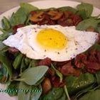Spinach Salad With Fried Egg recipe