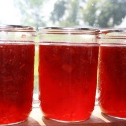 Strawberry Rhubarb Jam (Liquid Certo) recipe