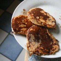 Healthy Peanut Butter Chocolate Chip Cookie Dough Pancakes recipe