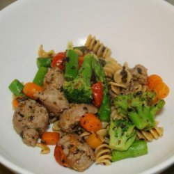 Whole Wheat Fusilli With Vegetables and Turkey Sausage recipe