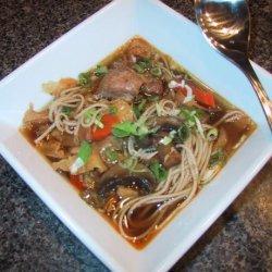 Pacific Rim Pork and Noodle Soup recipe
