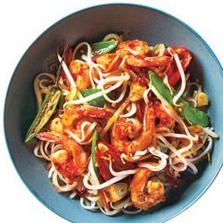 Sweet and Spicy Shrimp With Rice Noodles recipe
