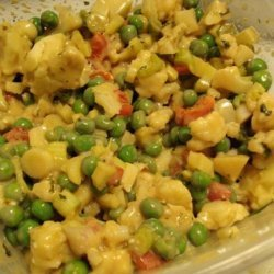 Cauliflower and Baby Pea Salad recipe