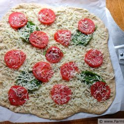Fresh Tomato and Basil Pizza recipe