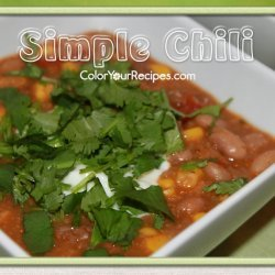 Simple Chili recipe