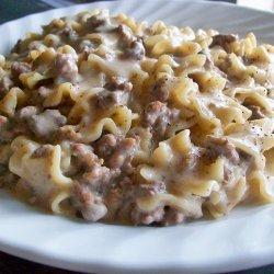 Hamburger Stroganoff recipe