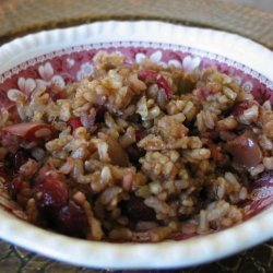 Brown Rice With Apples and Cranberries recipe