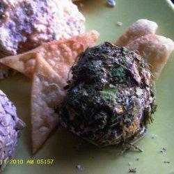 Cilantro Garlic Cheese Ball recipe