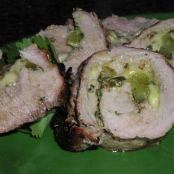 Stuffed Cuban Pork Tenderloin recipe