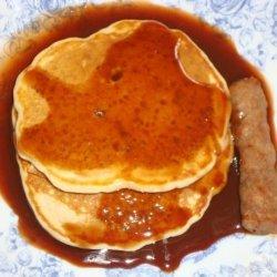 Pecan Pancakes With Fudge Syrup recipe