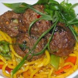 Sesame Meatballs Asian Style recipe