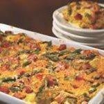 Ham, Asparagus and Cheese Strata recipe