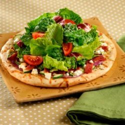 Light Salami and Feta Mini Pizzas With Tossed Greens recipe
