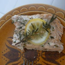 BBQ Salmon With Rosemary and Lemon recipe