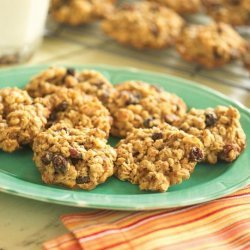 Chewy Oatmeal Raisin Nut Cookies recipe
