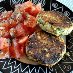 Fried Ricotta Patties With Tomato Salad recipe
