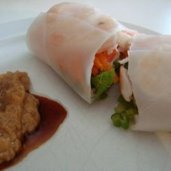 Fresh Spring Rolls With Dipping Sauce recipe
