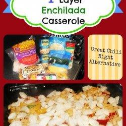 Layered Chicken Enchilada Casserole recipe