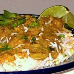 Curried Cauliflower over Fragrant East Indian Basmati Rice recipe